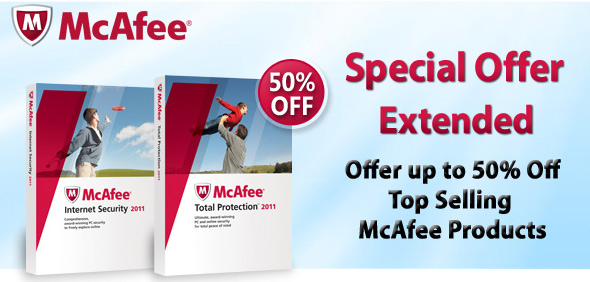 mcafee special offer