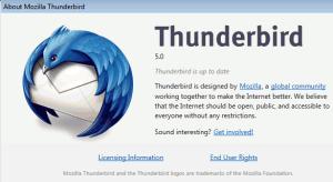 Mozilla Thunderbird 5