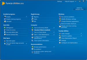 overview of all functions 300x207 TuneUp Utilities 2012