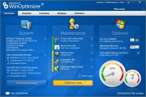 Ashampoo WinOptimizer 9, windows optimizer