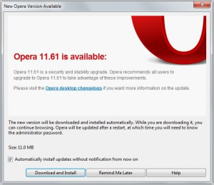 Opera 11.61, internet browser