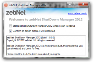 zebNet ShutDown Manager