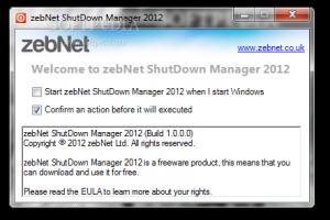 zebNet ShutDown Manager