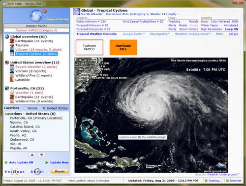 دانلود Earth Alerts 2015.1.74 – پیش بینی حوادث طبیعی و هواشناسی
