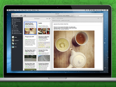 evernote 5 400x300 Evernote 5 Comes To The Mac With Over 100 New Features
