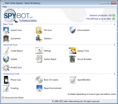 Spybot 400x352 Get The All New SpyBot With Improved Performance And Installation Facilities