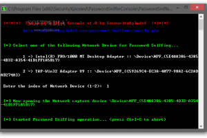 Password Sniffer Console