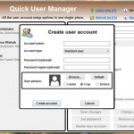Using Quick User Manager to control PC user accounts