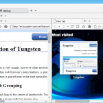 Tungsten – A Reliable Web Browser To Open Various Webpages In Different Tabs