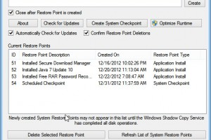 System Restore Point Creator