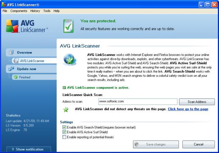 uninstall avg linkscanner mac
