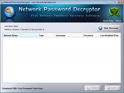 Network Password Decryptor 7.5