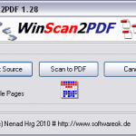 WinScan2PDF – Save Your Documents Directly In PDF Format