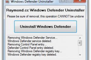 Windows Defender Uninstaller