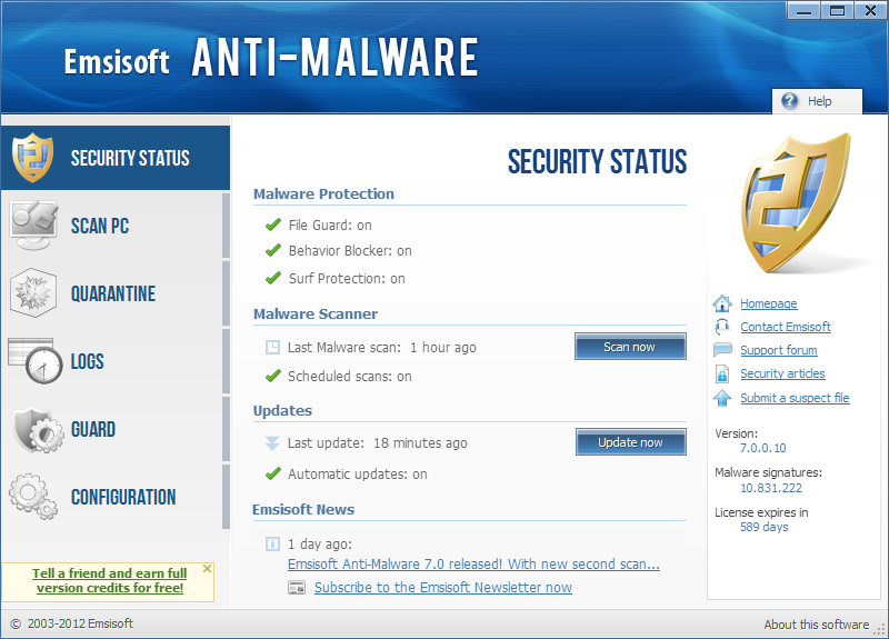 Emsisoft Anti Malware 10
