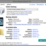iPhone Backup Extractor 6.0.6.752 – Creating Backup of Your iPhone Files