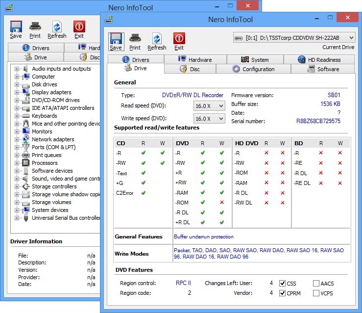 Nero InfoTool 11.0.00500 full