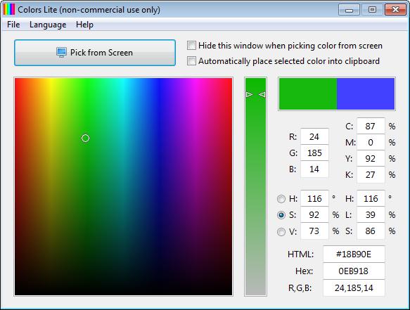 Colors full screenshot