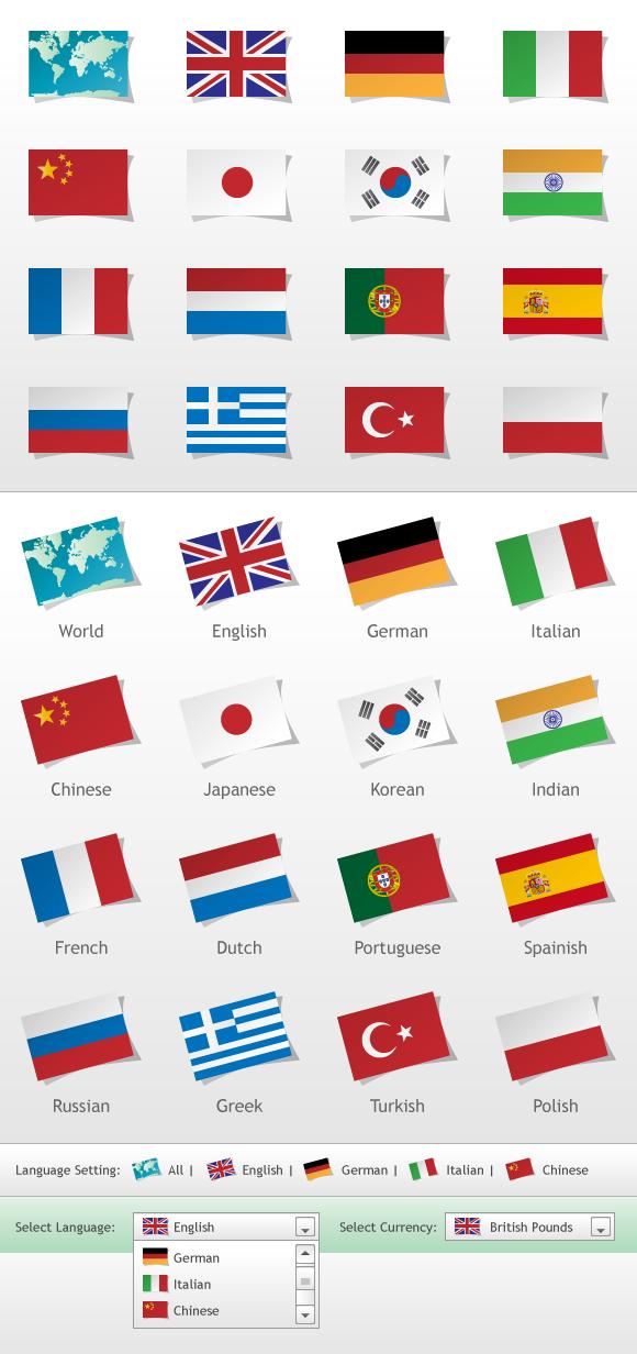 Language Flags  full