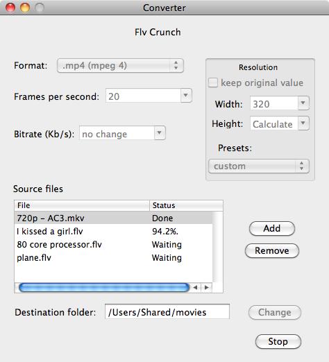 FLV Crunch for Mac full screenshot